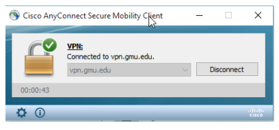 Cisco AnyConnect Secure Mobility Client Log In Screen